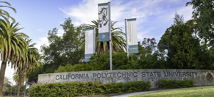 Entrance to Cal Poly's campus