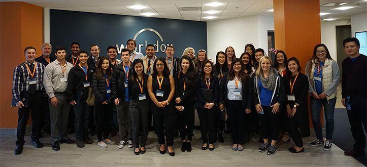 Cal Poly students at Workday