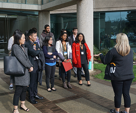 Cal Poly students tour Workday
