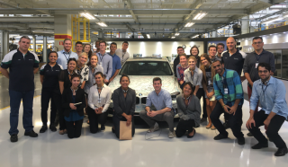 Cal Poly students at a BMW plant