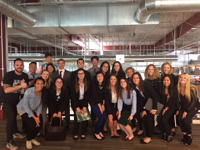 Cal Poly students at ad agency Team One