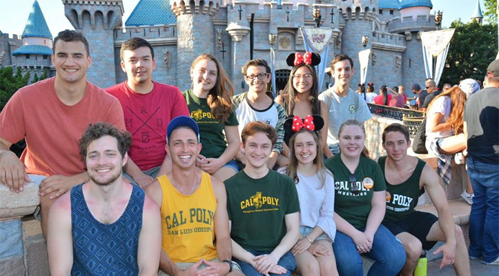 Cal Poly economics students at Disneyland