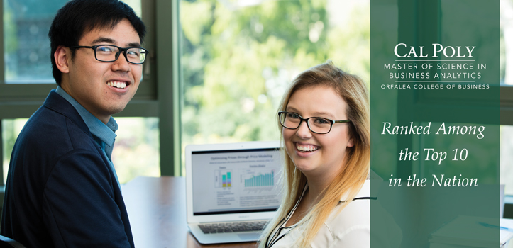 Cal Poly MS Business Analytics ranked among the top 10 in the nation