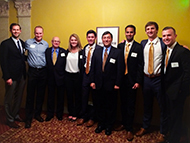The Cal Poly local CFA Challenge team at the Los Angeles competition