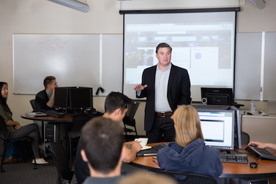 Chris Penner visiting as an Executive in Residence