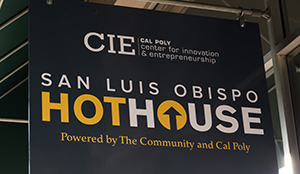 Cal Poly CIE HotHouse Signage