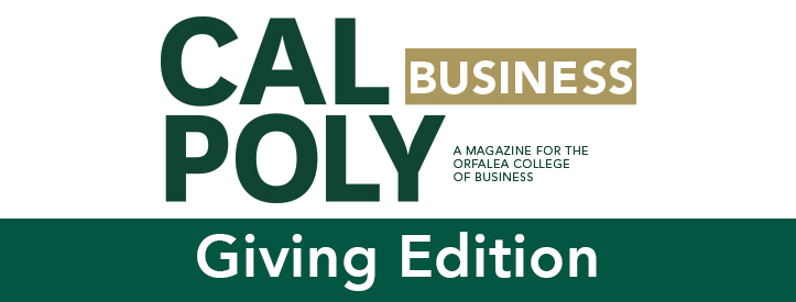 Cal Poly Business Magazine Giving Edition