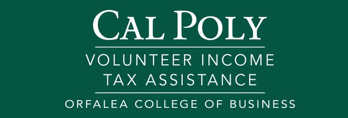Cal Poly Volunteer Income Tax Assistance Clinics Orfalea College